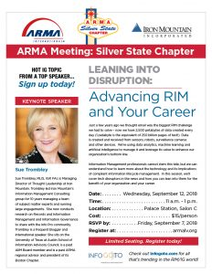 Leaning Into Disruption:  Advancing RIM and Your Career @ Palace Station Hotel and Casino Salon C | Las Vegas | Nevada | United States
